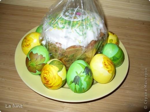 Моя первая работа в технике Декупаж. Решила проложить старт с декорирования яиц к Пасхе. фото 4