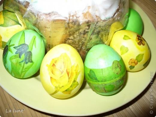 Моя первая работа в технике Декупаж. Решила проложить старт с декорирования яиц к Пасхе. фото 3
