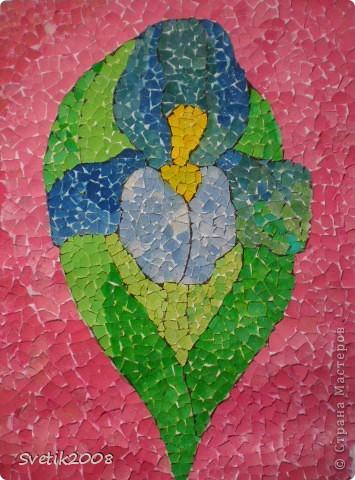 Очень люблю мозаику в разных ее проявлениях.  Это  моя первая  попытка в этой технике. Она из яичной скорлупы.  фото 5