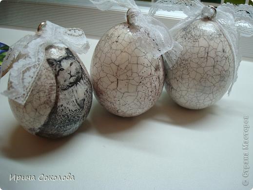 Вот такие старинные яички я сделала (на подарки подружкам) на Пасху фото 9