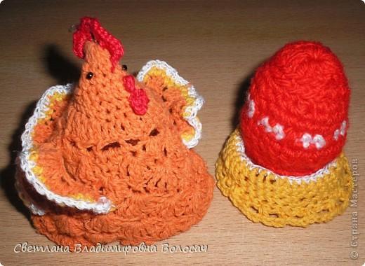 ПАСХА цыплята, курочки, яички; прихватки...вязанные фото 10