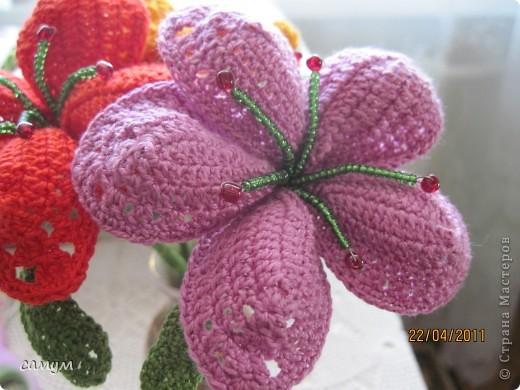 МК по вывязыванию экзотических цветов фото 1
