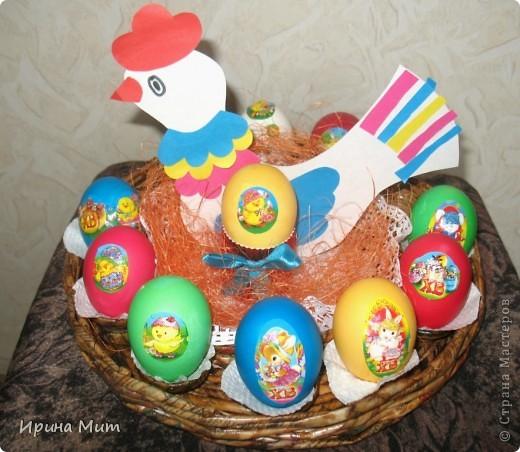 Наша курочка несушка к Пасхе снесла цветные яички!!! Так с дочкой мы подготовились к Светлому празднику Пасхи! фото 1