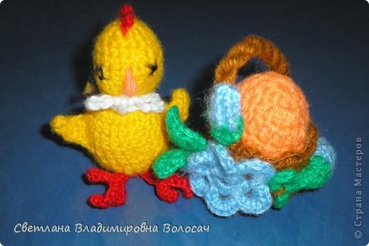 ПАСХА цыплята, курочки, яички; прихватки...вязанные фото 5