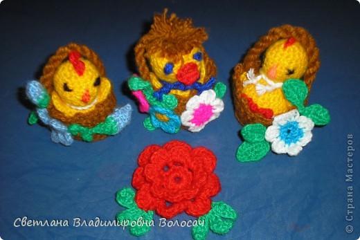 ПАСХА цыплята, курочки, яички; прихватки...вязанные фото 1