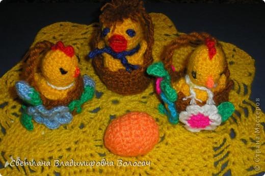 ПАСХА цыплята, курочки, яички; прихватки...вязанные фото 6