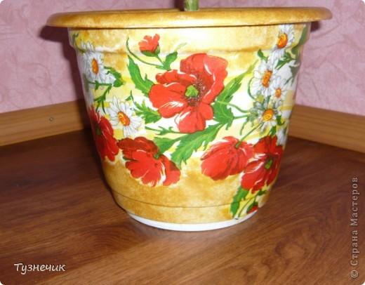 Вот такой получился горшочек для маминой пальмы)))) фото 2