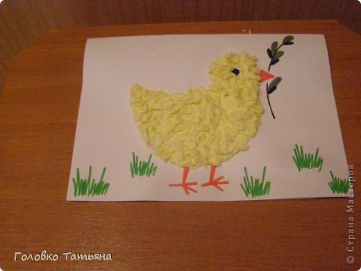 Золотой цыпленок с вербочкой фото 1