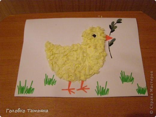 Золотой цыпленок с вербочкой фото 2