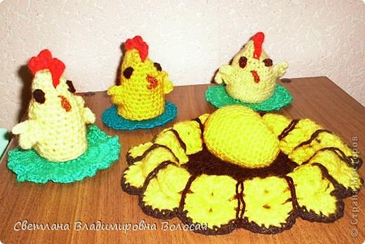 ПАСХА цыплята, курочки, яички; прихватки...вязанные фото 3