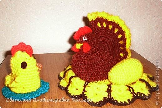 ПАСХА цыплята, курочки, яички; прихватки...вязанные фото 2