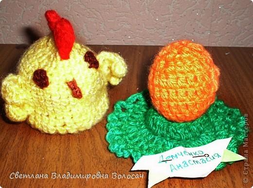 ПАСХА цыплята, курочки, яички; прихватки...вязанные фото 4