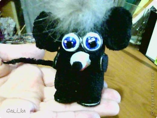 выкладываю МК по мышке от Машки, только у меня не было серой ткани, поэтому мышка черная фото 1