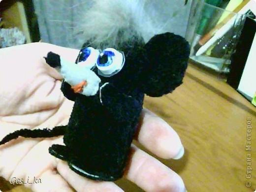 выкладываю МК по мышке от Машки, только у меня не было серой ткани, поэтому мышка черная фото 27