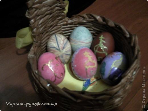Вот такие яички в этом году получились у меня! Я как человек творческий не могла просто покрасить яйца, я ведь узнала про Страну мастеров, столько разных техник освоила, вот и применила... фото 1