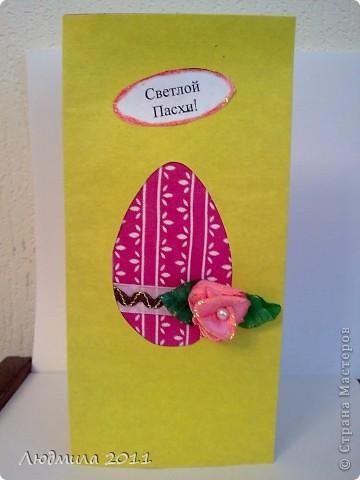 Увидела у Голубки вот такие открытки к Пасхе, сделанные детьми.... решили сделать что-то похожее на подарки. Вот что у нас получилось... Открытки все вместе. фото 9