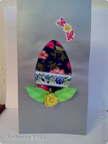 Увидела у Голубки вот такие открытки к Пасхе, сделанные детьми.... решили сделать что-то похожее на подарки. Вот что у нас получилось... Открытки все вместе. фото 11