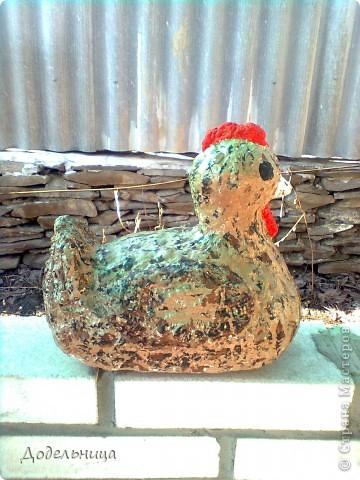 Вот такую пасхальную курочку я изготовила для украшения палисадника. Я думаю все понятно и без слов, по одним фото. фото 5