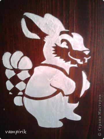 вот такой милый зайчонок появился на моем шкафу в новогоднюю ночь фото 1