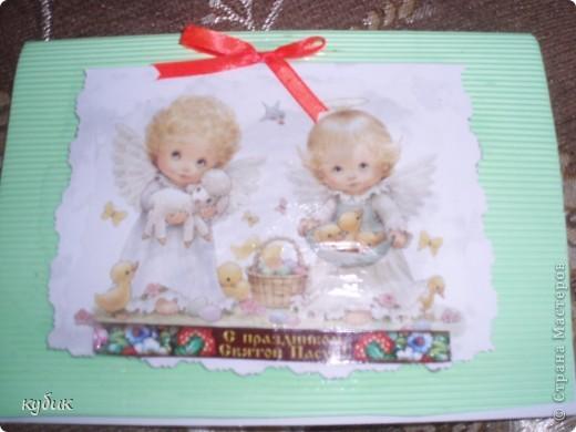 вот такие подарочки я приготовила на пасху, декупаж на канве фото 5