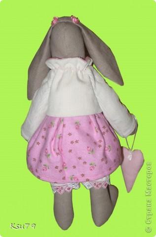 моя первая зайка, которая имеет полноценную одежку (каюсь, туфельки сделать не успела).  фото 3