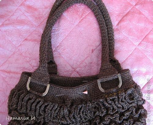"""Обожаю сумки, просто с ума схожу! Покупаю их и вяжу/шью сама. Вот моя новая сумочка. Связана из пряжи """"Катекс"""" крючком фото 18"""