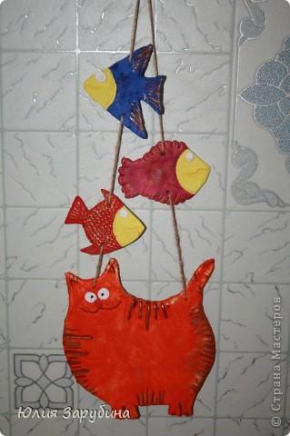 Котейка с рыбками (повторюшка)