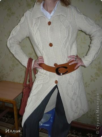 Ну вот наконец то сфоткала... Пальто связано уже как несколько месяцев, но все никак не могла похвалиться. фото 3