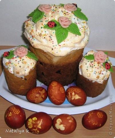 Такие куличи получились у нас в этом году.Рецепт куличей можно посмотреть здесь     http://stranamasterov.ru/node/59572       фото 2