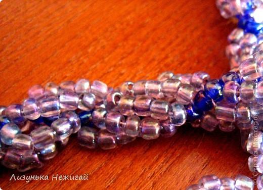 Ожерелье (жгут) - совместная работа мамы и Лизуньки фото 3