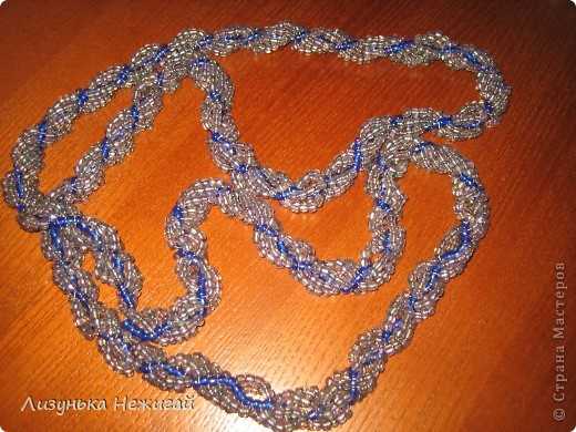 Ожерелье (жгут) - совместная работа мамы и Лизуньки фото 2