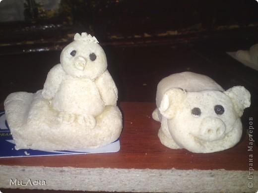Новогодние игрушки из солёного теста фото 6