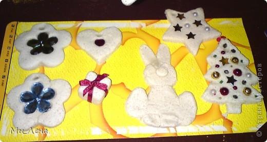 Новогодние игрушки из солёного теста фото 11