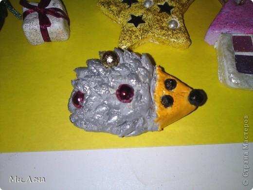 Новогодние игрушки из солёного теста фото 18