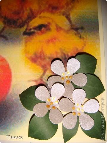 Вот такая весёлеькая открыточка получилась в садик к Пасхе . фото 4