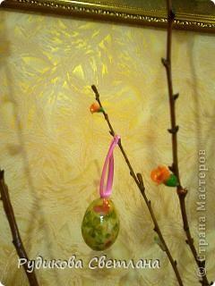 вот такое дерево я сделала к Пасхе и подарила его в нашу церковь фото 3