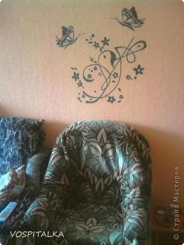 Весеннее настроение. Роспись стен и мебели фото 5
