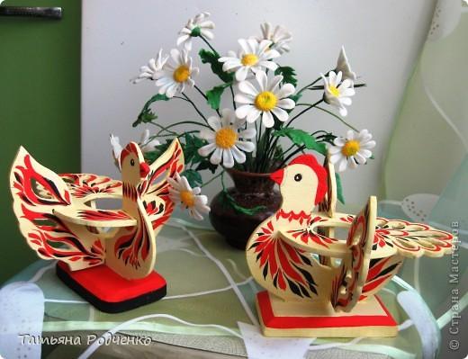 К светлому празднику Пасхи мы приготовили вот такие сувениры. Выполнены они из фанеры, расписаны гуашью. фото 7