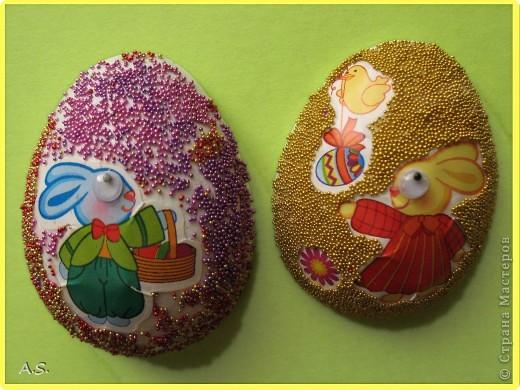 Такие яички-магниты мы с дочкой сделали на Пасху в подарок родственникам, друзьям, преподавателям фото 9