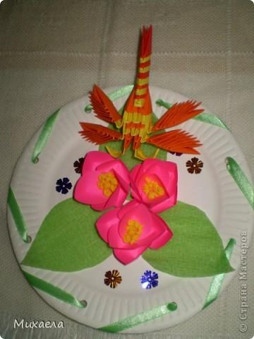Мое первое модульное оригами, и цветы такого типа тоже в первые сделала, мне они очень понравились, решила попробовать, и вот что получилось... фото 4