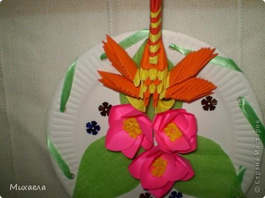 Мое первое модульное оригами, и цветы такого типа тоже в первые сделала, мне они очень понравились, решила попробовать, и вот что получилось... фото 3
