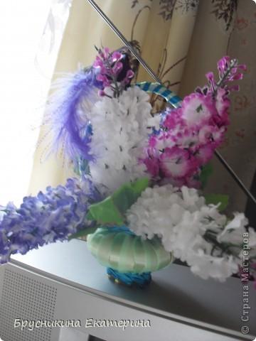 в основе мыло. ленты. булавки. цветы. запах сирень фото 4