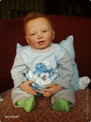 Здравствуйте форумчане! Хочу представить свою очередную работу в реборнинге.  Мальчик Бенно родился на пасху. Его рост 56 см., вес 2900 кг. Расписан красками Генезис, закреплён матлаком. Мне очень понравился этот молд и я решила попробовать его возродить. Получился вот такой озорной мальчишка. Воображу, что это самый удачный малыш из моих крох.  фото 7