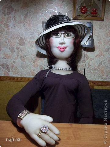Вот такую куклу для дачи ,я сшила в подарок на День рождения папе . фото 2