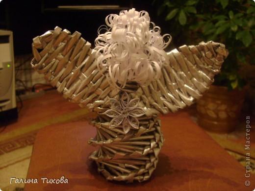 «Ангел из газетных трубочек» Мастер-класс. фото 20