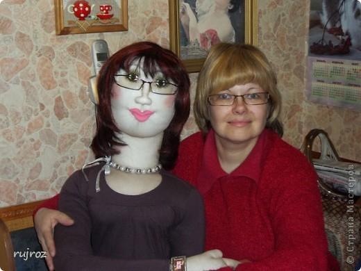 Вот такую куклу для дачи ,я сшила в подарок на День рождения папе . фото 3