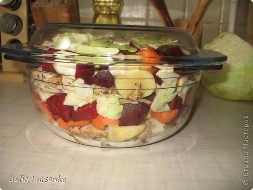 У меня всегда было проблемой накормить мужа овощами, ну разве что иногда картофельным пюре и салатом из свежих овощей. Макаронник он у меня заядлый, и ничего не поделаешь.... до того как попробовал это замечательное блюдо! фото 7