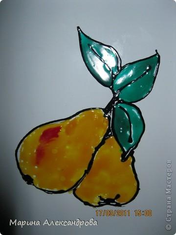 Мишка...украшение для холодильника, зеркала, стекла..витражные краски фото 3