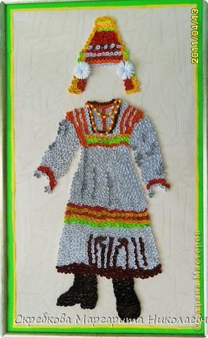 Эрзянский национальный костюм в технике квиллинг