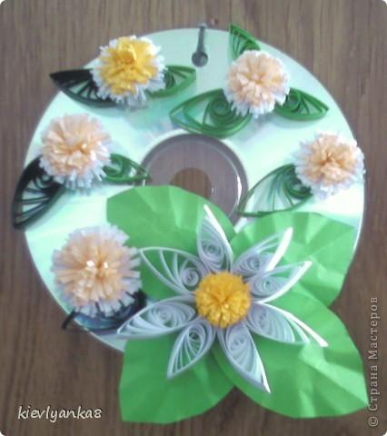 Цветы на дисках фото 1